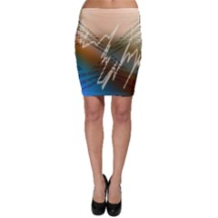 Pop Art Edit Artistic Wallpaper Bodycon Skirt