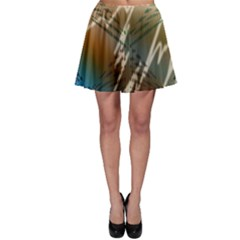 Pop Art Edit Artistic Wallpaper Skater Skirt