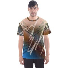 Pop Art Edit Artistic Wallpaper Men s Sports Mesh Tee