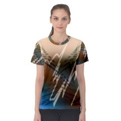 Pop Art Edit Artistic Wallpaper Women s Sport Mesh Tee