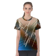 Pop Art Edit Artistic Wallpaper Women s Cotton Tee