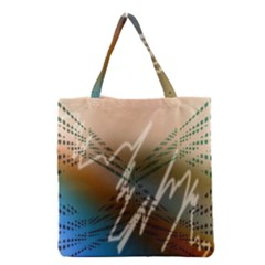 Pop Art Edit Artistic Wallpaper Grocery Tote Bag