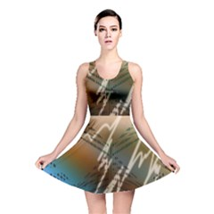 Pop Art Edit Artistic Wallpaper Reversible Skater Dress