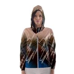 Pop Art Edit Artistic Wallpaper Hooded Wind Breaker (Women)
