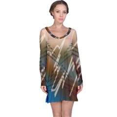 Pop Art Edit Artistic Wallpaper Long Sleeve Nightdress
