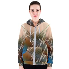 Pop Art Edit Artistic Wallpaper Women s Zipper Hoodie