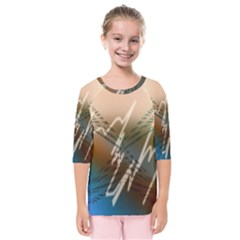 Pop Art Edit Artistic Wallpaper Kids  Quarter Sleeve Raglan Tee