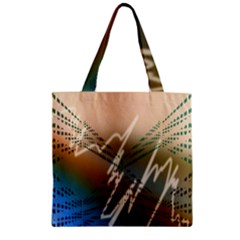 Pop Art Edit Artistic Wallpaper Zipper Grocery Tote Bag