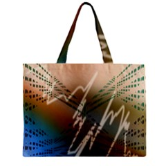 Pop Art Edit Artistic Wallpaper Zipper Mini Tote Bag