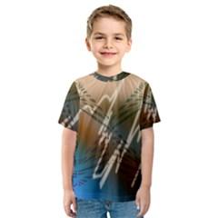 Pop Art Edit Artistic Wallpaper Kids  Sport Mesh Tee