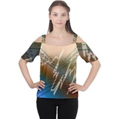 Pop Art Edit Artistic Wallpaper Cutout Shoulder Tee