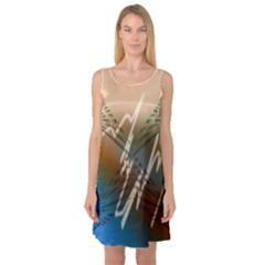 Pop Art Edit Artistic Wallpaper Sleeveless Satin Nightdress