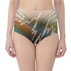 Pop Art Edit Artistic Wallpaper High-Waist Bikini Bottoms