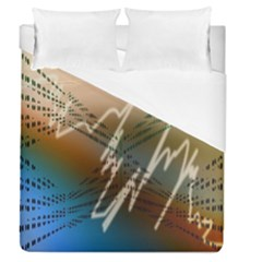 Pop Art Edit Artistic Wallpaper Duvet Cover (Queen Size)