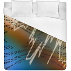Pop Art Edit Artistic Wallpaper Duvet Cover (King Size)