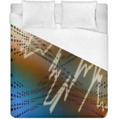 Pop Art Edit Artistic Wallpaper Duvet Cover (California King Size)