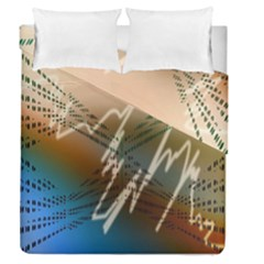 Pop Art Edit Artistic Wallpaper Duvet Cover Double Side (Queen Size)