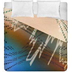 Pop Art Edit Artistic Wallpaper Duvet Cover Double Side (King Size)