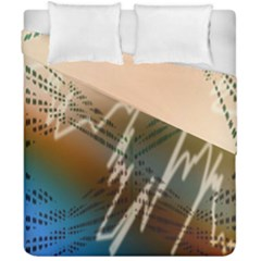 Pop Art Edit Artistic Wallpaper Duvet Cover Double Side (California King Size)