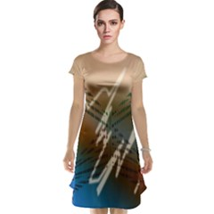 Pop Art Edit Artistic Wallpaper Cap Sleeve Nightdress