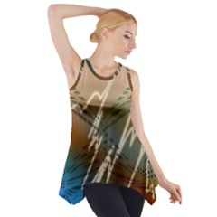 Pop Art Edit Artistic Wallpaper Side Drop Tank Tunic