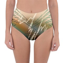 Pop Art Edit Artistic Wallpaper Reversible High-Waist Bikini Bottoms