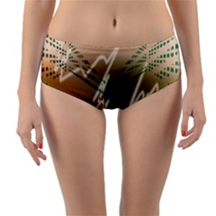 Pop Art Edit Artistic Wallpaper Reversible Mid-Waist Bikini Bottoms