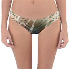 Pop Art Edit Artistic Wallpaper Reversible Hipster Bikini Bottoms