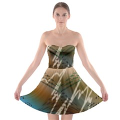 Pop Art Edit Artistic Wallpaper Strapless Bra Top Dress
