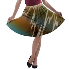 Pop Art Edit Artistic Wallpaper A-line Skater Skirt