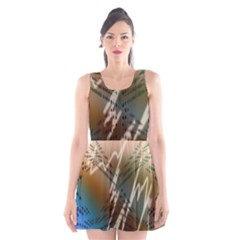Pop Art Edit Artistic Wallpaper Scoop Neck Skater Dress