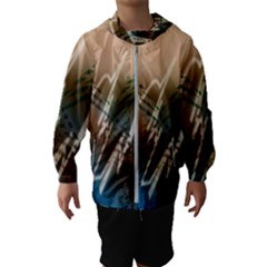 Pop Art Edit Artistic Wallpaper Hooded Wind Breaker (Kids)