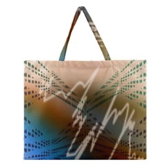 Pop Art Edit Artistic Wallpaper Zipper Large Tote Bag
