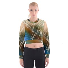 Pop Art Edit Artistic Wallpaper Cropped Sweatshirt