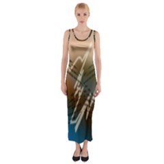 Pop Art Edit Artistic Wallpaper Fitted Maxi Dress