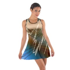 Pop Art Edit Artistic Wallpaper Cotton Racerback Dress