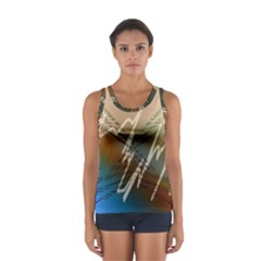Pop Art Edit Artistic Wallpaper Sport Tank Top