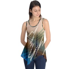 Pop Art Edit Artistic Wallpaper Sleeveless Tunic