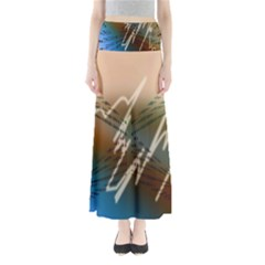 Pop Art Edit Artistic Wallpaper Full Length Maxi Skirt