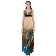 Pop Art Edit Artistic Wallpaper Empire Waist Maxi Dress