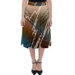 Pop Art Edit Artistic Wallpaper Folding Skater Skirt