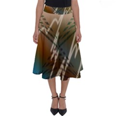 Pop Art Edit Artistic Wallpaper Perfect Length Midi Skirt