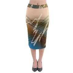 Pop Art Edit Artistic Wallpaper Midi Pencil Skirt
