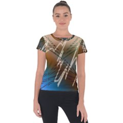 Pop Art Edit Artistic Wallpaper Short Sleeve Sports Top