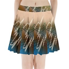 Pop Art Edit Artistic Wallpaper Pleated Mini Skirt