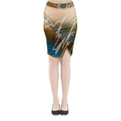 Pop Art Edit Artistic Wallpaper Midi Wrap Pencil Skirt