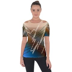 Pop Art Edit Artistic Wallpaper Short Sleeve Top