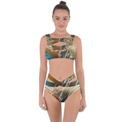 Pop Art Edit Artistic Wallpaper Bandaged Up Bikini Set