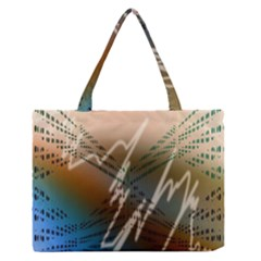 Pop Art Edit Artistic Wallpaper Zipper Medium Tote Bag