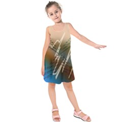 Pop Art Edit Artistic Wallpaper Kids  Sleeveless Dress
